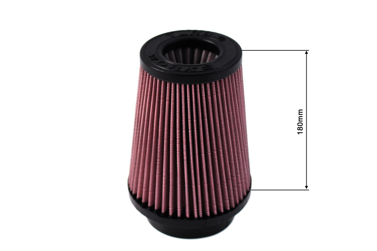 Filtr stożkowy TURBOWORKS H:180mm OTW:101mm Purple - GRUBYGARAGE - Sklep Tuningowy
